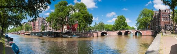 Panoramic photo of Amsterdam