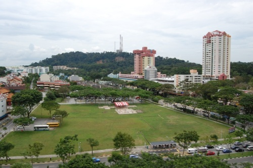 View towards Bukit Timah hill, the highest point on Singapore Island