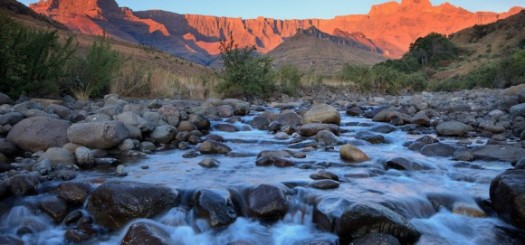Drakensberg and Tugela River at Sunset (creative commons)