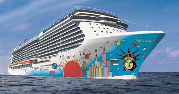 NORWEGIAN BREAKAWAY art work, courtesy of NCL