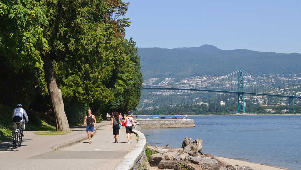 Running Stanley Park is a great thing to do on a summer holiday in Vancouver
