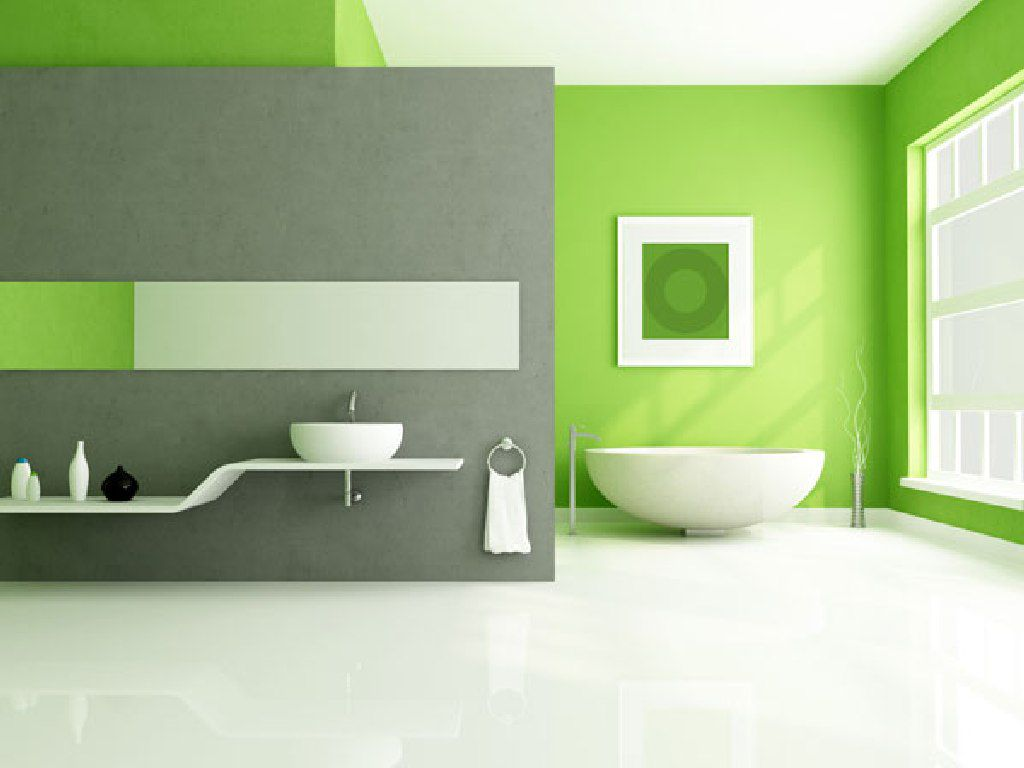 lime-green-accents-wall-paint-for-modern-bathroom-idea-combine